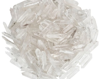 Digging Dolls: 1/2 lb Natural Quartz Jewelry Points / Shards- Medium Quartz Crystals for Wire Wrapping, Crafts and Art