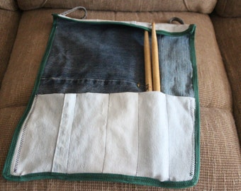 Up-cycled Denim Drumstick Bag
