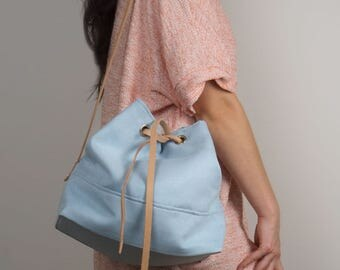SALE / bucket bag This Is A Spring Thing / green pastel