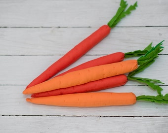 fabric carrots,Easter carrots,set of 5 carrots,Easter prop,Hanging carrot,spring decor,photo prop easter,home decoration