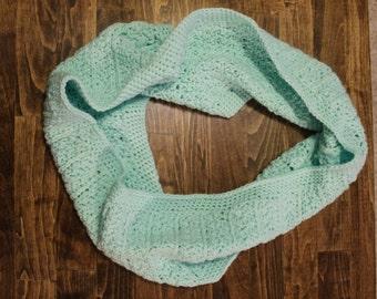 Aqua Crochet Scarf