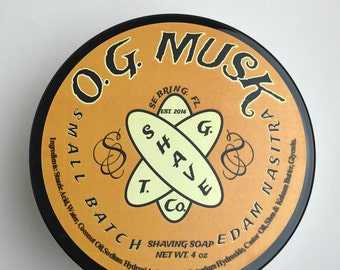 Orange Grove Musk Shaving Soap