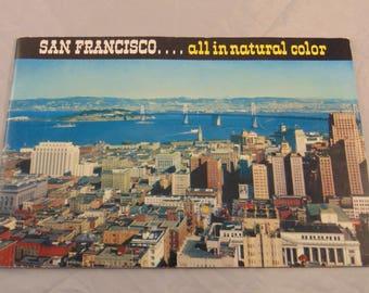 "Vintage San Francisco Travel Visitors Brochure...""San Francisco....all in natural color"""