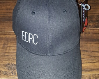 black fitted hat EDRC