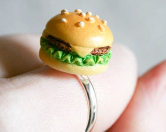 Tiny Cheeseburger Ring - Size 8