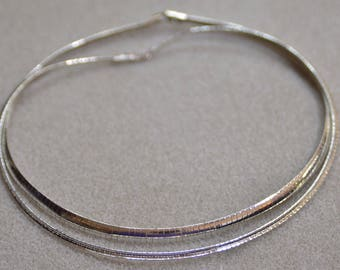 Silver Colored 16 inch omega chains Necklace Jewelry