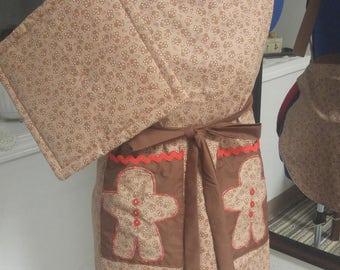 apron, gingerbread men