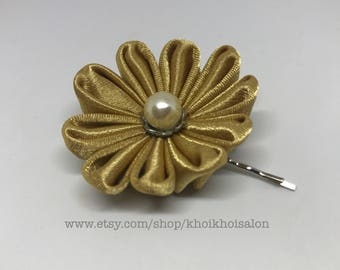 Gold Hair Flower Pin