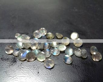 50 pieces 4mm labradorite faceted round gemstone top quality natural labradorite round faceted flashy labradorite loose faceted gemstone