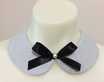 Blue European Linen Collar
