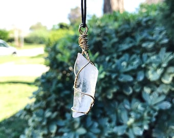 Quartz Energy Crystal Wrapped Necklace
