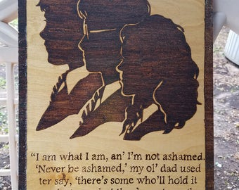 Harry, Ron, and Hermione wood burned plaque