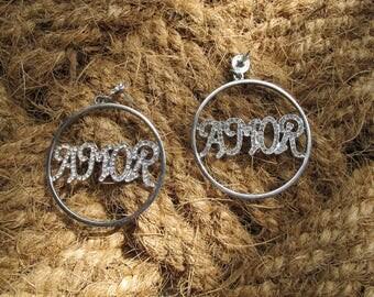 AMOR - ghetto fab earrings!