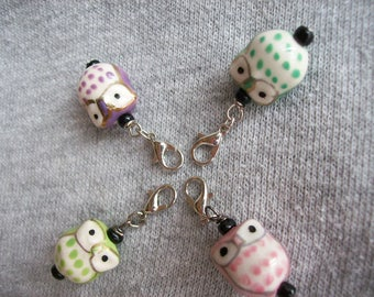 Chubby Owl Charms | Set of Progress Keepers