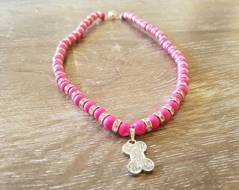 Candy Pink Pet Necklace