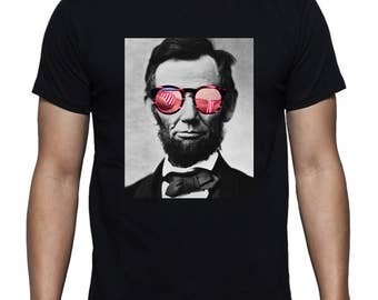 Abraham Lincoln with Sunglasses T-shirt