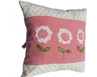 Square cushion cover made of beautiful vintage linen