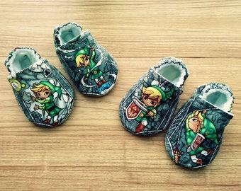 Baby Legend of Zelda shoes,Zelda Baby,The Legend of Zelda Baby shoes,Zelda inspired fabric shoes,boy,girl,Baby shower gift,Gaming baby shoes