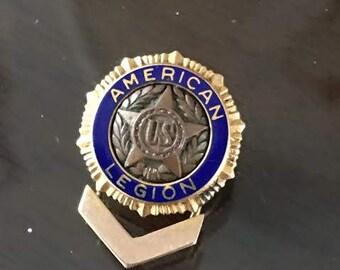 American Legion Pin, Vintage, 14 kt