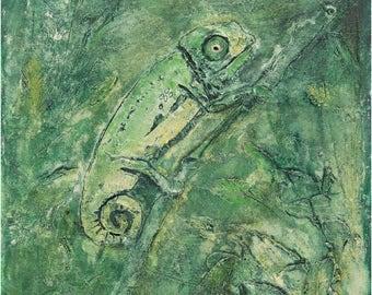 Chameleon Print,Reptile Print,Lizard Print,Chameleon Art Print,Reptile Decor,Wall Art,Fine Art Print,Reptile Art Print,Lizard Art Print