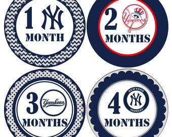 NY Yankees Baby Month by Month Stickers