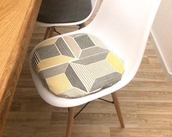 modern retro Eames chair seat cushions padded zippered washable