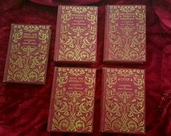 Complete works of Jane Austen 1895- 1898 Macmillan deluxe edition