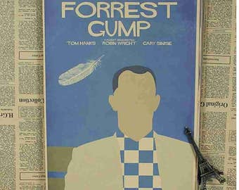 Movie Super Hero Art Vintage Forrest Gump Poster Cool creative gift