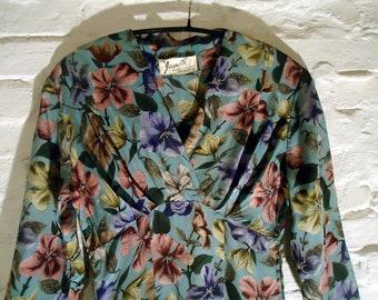 NEW PRICE * gorgeous 40s silk dress * authentic vintage 40's * mint condition * TXS