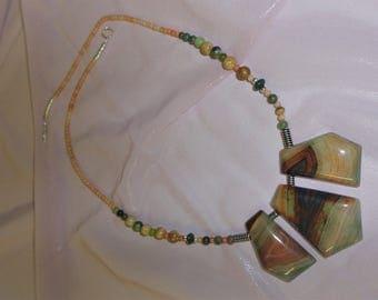 Agate Three Focal Beads