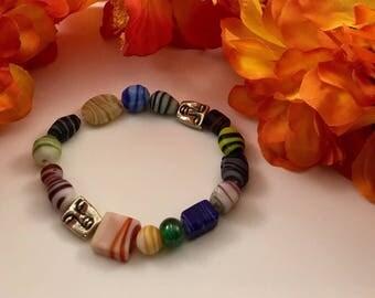 """7"""" multi colored bracelet"""