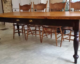 Old pine 2 board Harvest Table
