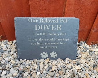 Personalised pet memorial slate,  sign, plaque, grave marker