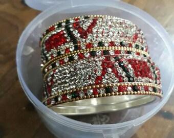 Ethnic bangles to match your ethnic attire.
