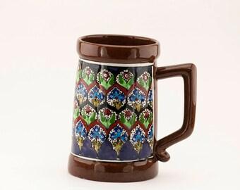 Beer Mug , hand made ceramic, hand painted ceramic,