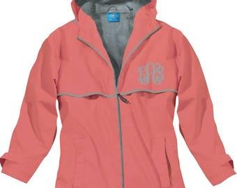 Coral rain jacket | Etsy