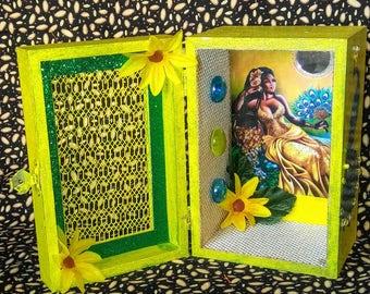 Oshun Altar Box, Shrine, Shadow Box, Hoodoo, Santeria, Voodoo, Pagan, Yorùbá Orisha