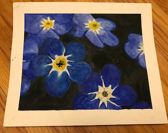 Water Colour Painting: Forget-Me-Nots