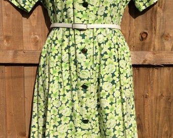 VOLUP Late 1940's/ early 1950's Cotton Day Dress