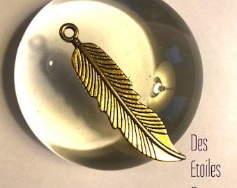 Pendant pen - Gold - 4.4 cm