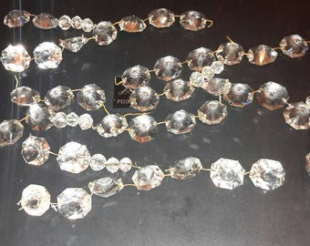 Vintage glass chandelier strands