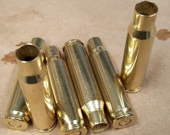 308/7.62 NATO (20) Clean, polished and unprocessed brass casings for reloading, Art projects, crafts, jewelry or any other uses