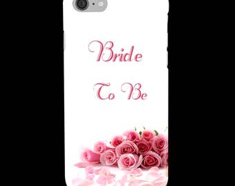 Personalised Wedding, Mother of the Bride or Bride To Be - Pink - Roses - Protective Glossy Phone Cover Case, iPhone - Samsung Galaxy GS
