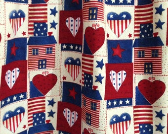 Americana Valance, Country Valance, Red, White, And Blue Country Curtains,  American