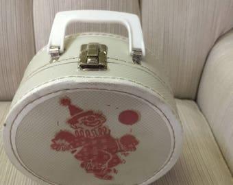 Handled Bag Clown Vintage Carry Case