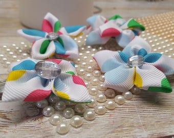 Set of 4 handmade Kanashi Flower hair clips, back to school, party, girl hair accessoreis, hair clip