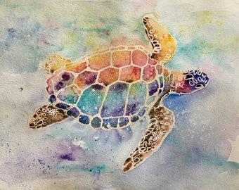 Sea Turtle Fine Art Reproduction