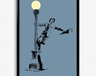 Singin' in the Rain Art Print - Super Detailed Giclee Print of Classic Musical Starring Gene Kelly - Multiple Sizes and Colors