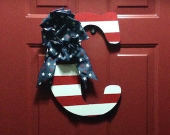 American Flag Door Hanger