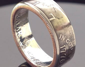 US 'Bicentennial' 1776-1976 Half Dollar Coin Ring